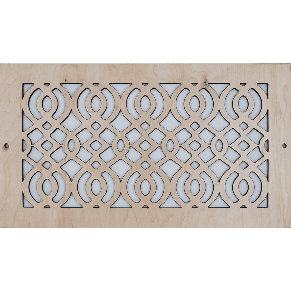 Arabic Vent Cover - Unstained, Decorative Vent Cover, Vent Cover, Stellar Air, Custom Air Vent Cover, Charleston, SC