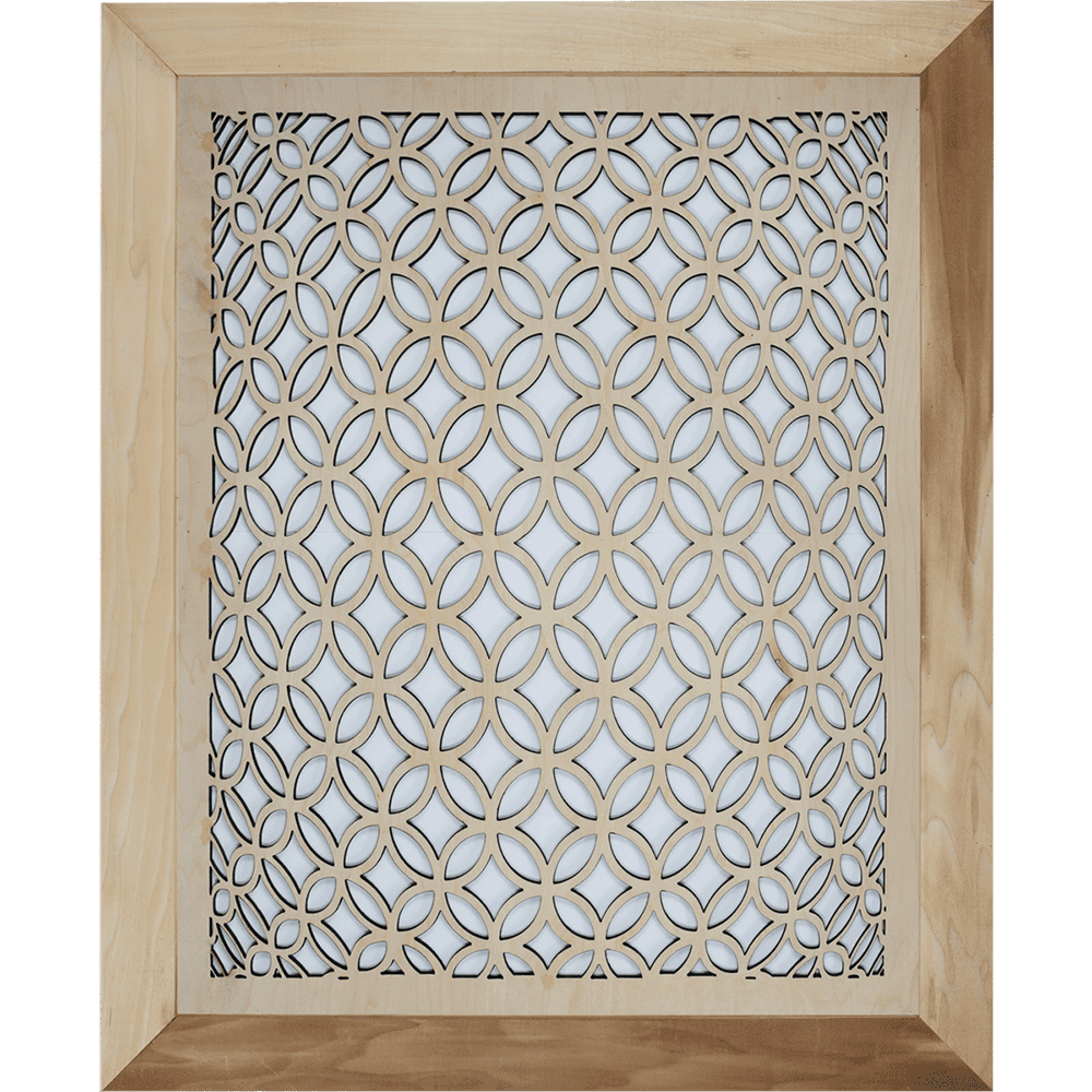 3D Circular Grille Cover - With Frame, Intake Air Grille, Air Vent Grille Cover, Decorative Air Vent, Stellar Air, Charleston, SC