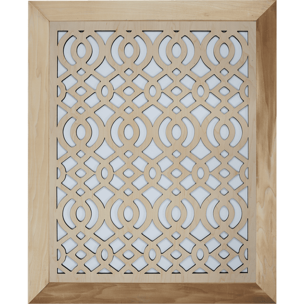 Arabic Grille Cover - With Frame, Decorative Vent Cover, Vent Cover, Stellar Air, Custom Air Vent Cover, Charleston, SC
