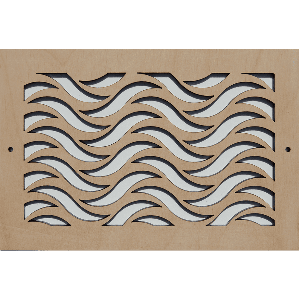 Waves - Vent Cover, Wall Vent, Air Vent, Intake Air Grille, Grille Covers, Stellar air, Decorative Vent Covers, Charleston, SC