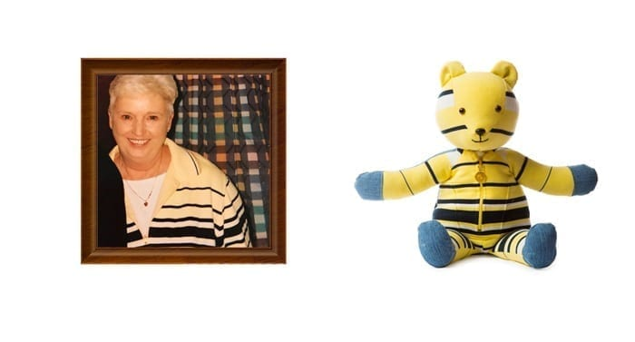 yellow shirt turned into memorial bear
